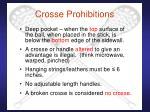 crosse prohibitions
