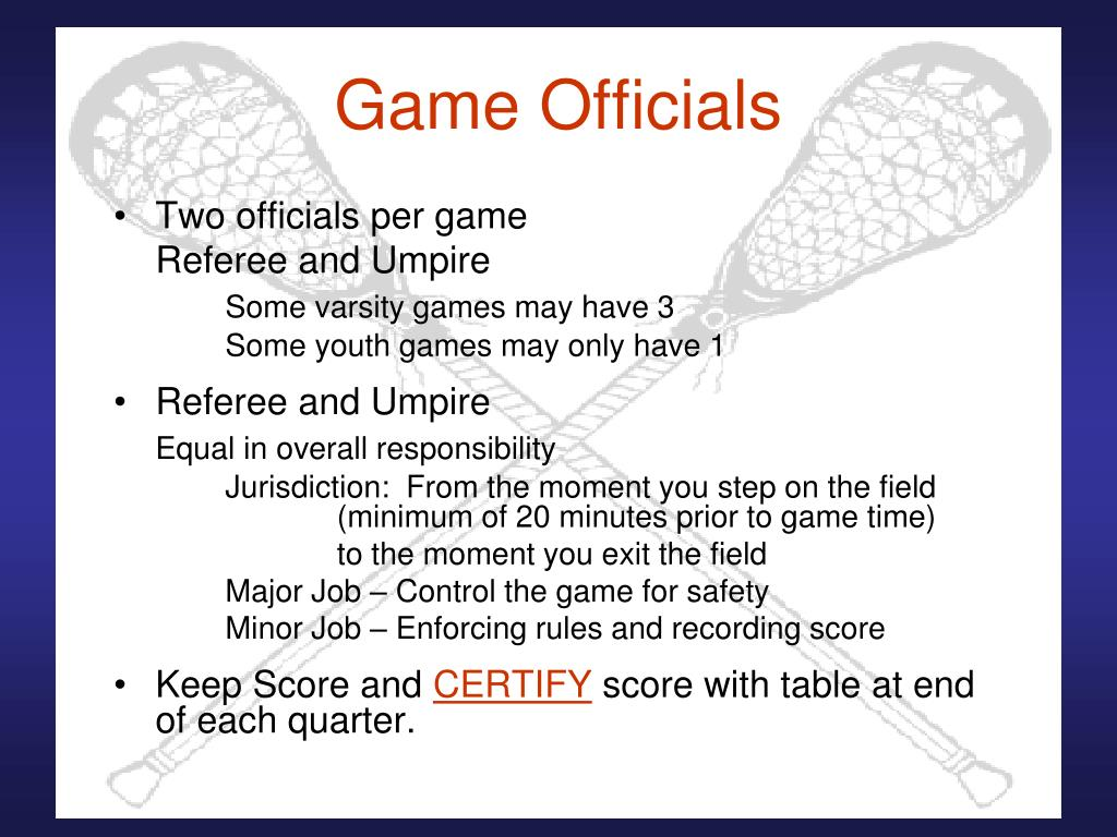 Game Officials