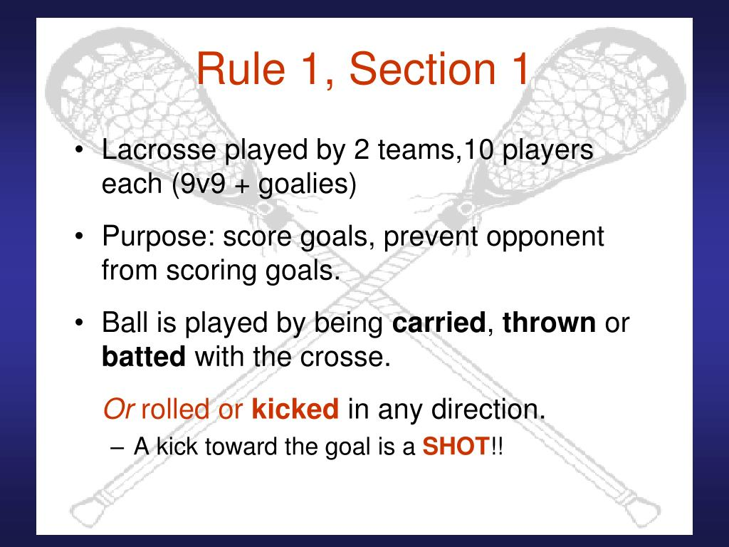 Rule 1, Section 1