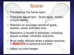 scorer