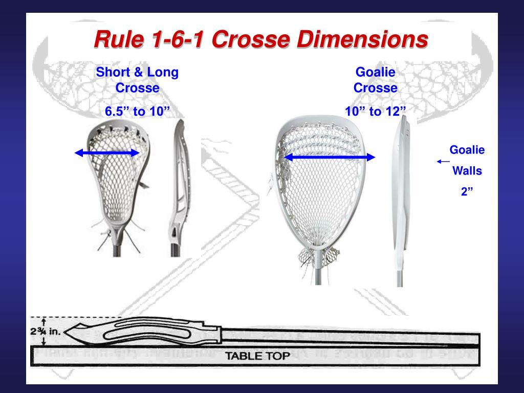 Rule 1-6-1 Crosse Dimensions