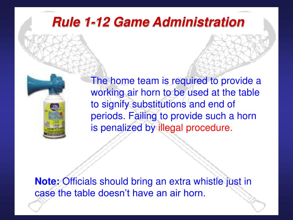 Rule 1-12 Game Administration
