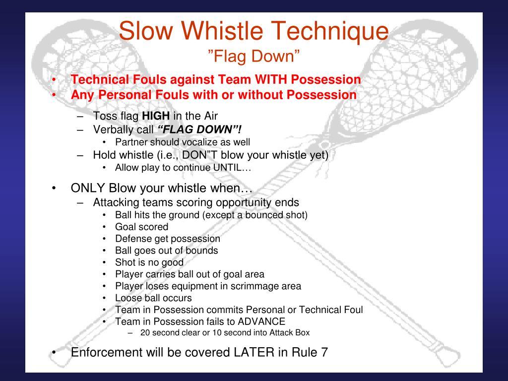 Slow Whistle Technique
