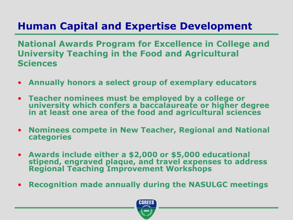 Human Capital and Expertise Development