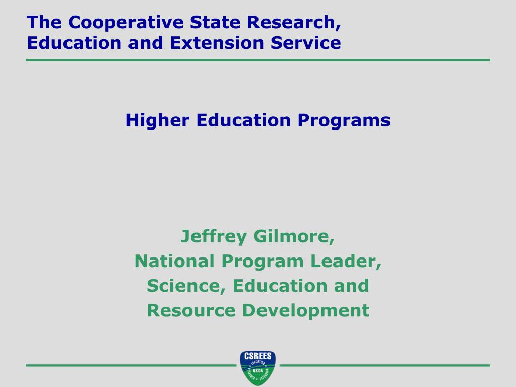 The Cooperative State Research,