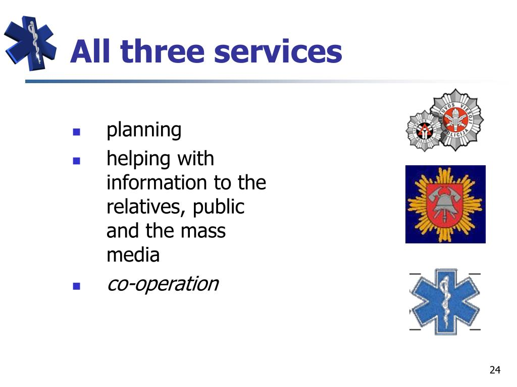 All three services