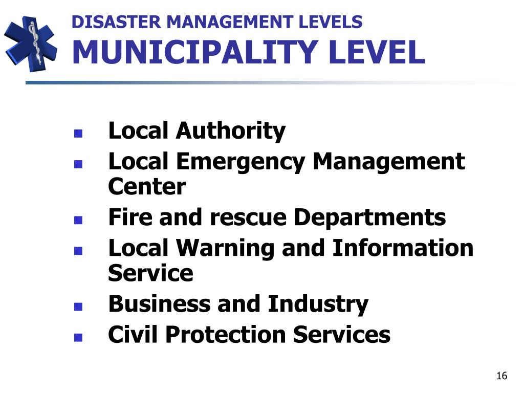 DISASTER MANAGEMENT LEVELS