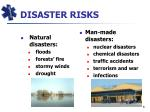 disaster risks