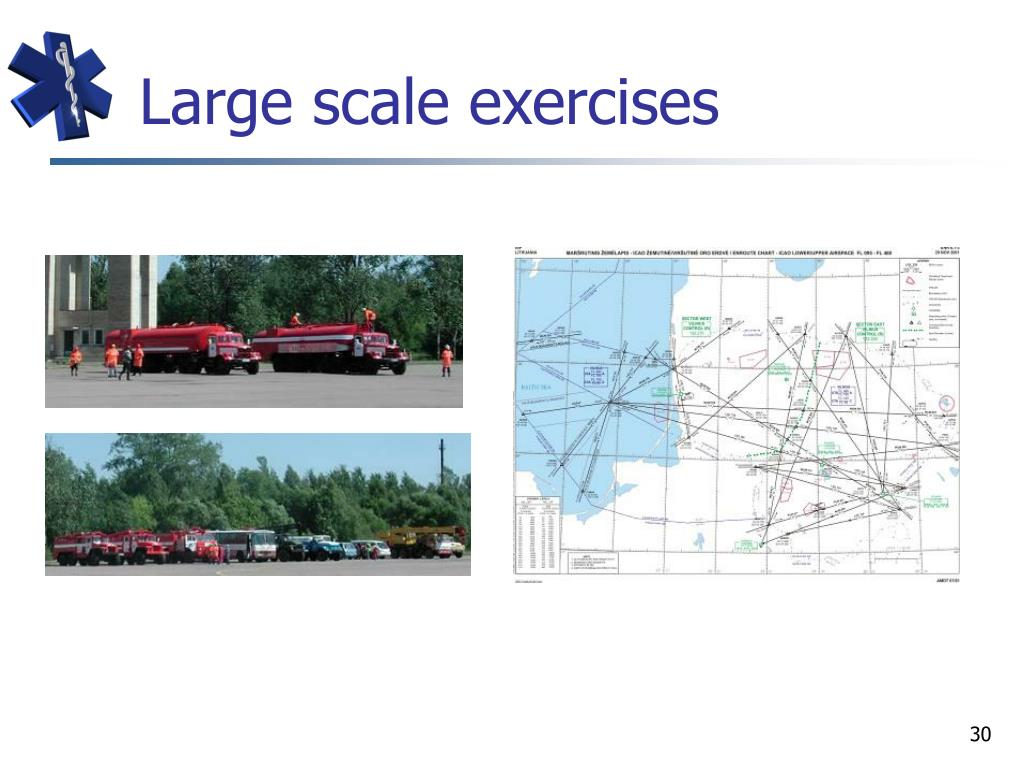 Large scale exercises