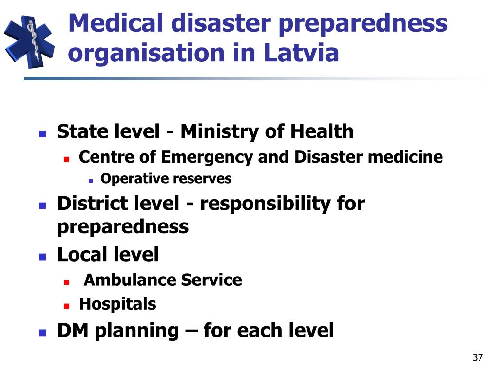 Medical disaster preparedness organisation