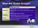 what are global groups