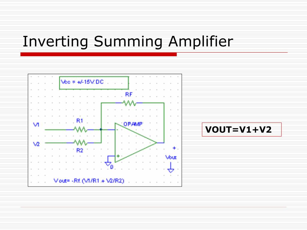Inverting Summing Amplifier
