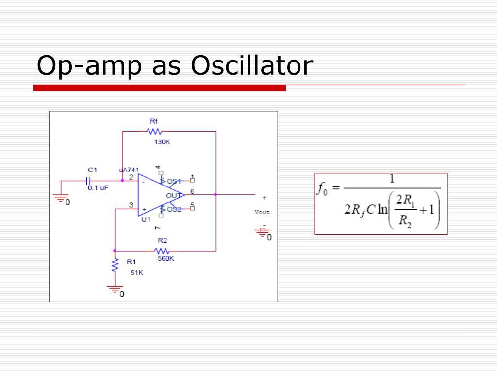 Op-amp as Oscillator