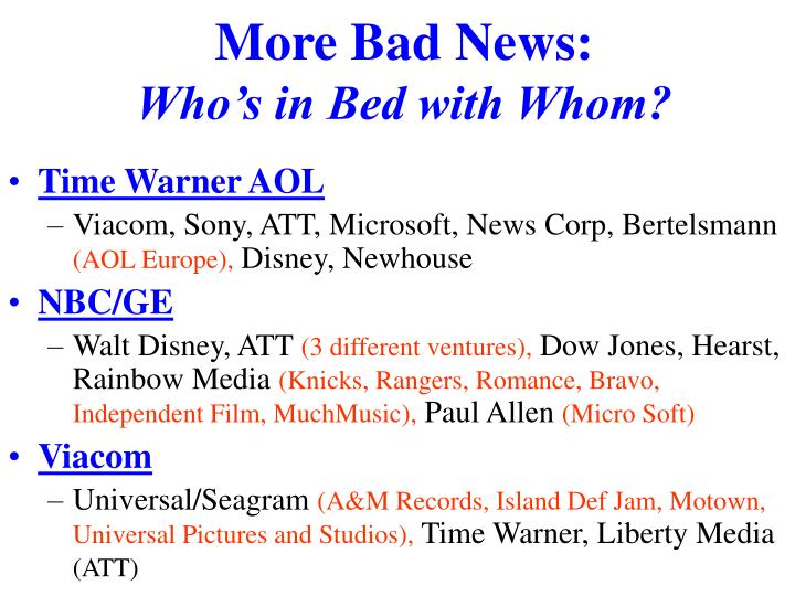 More Bad News: