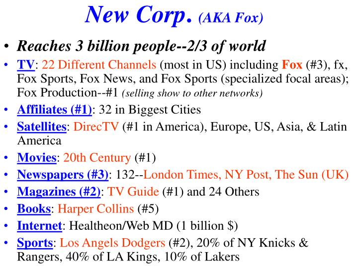 New Corp