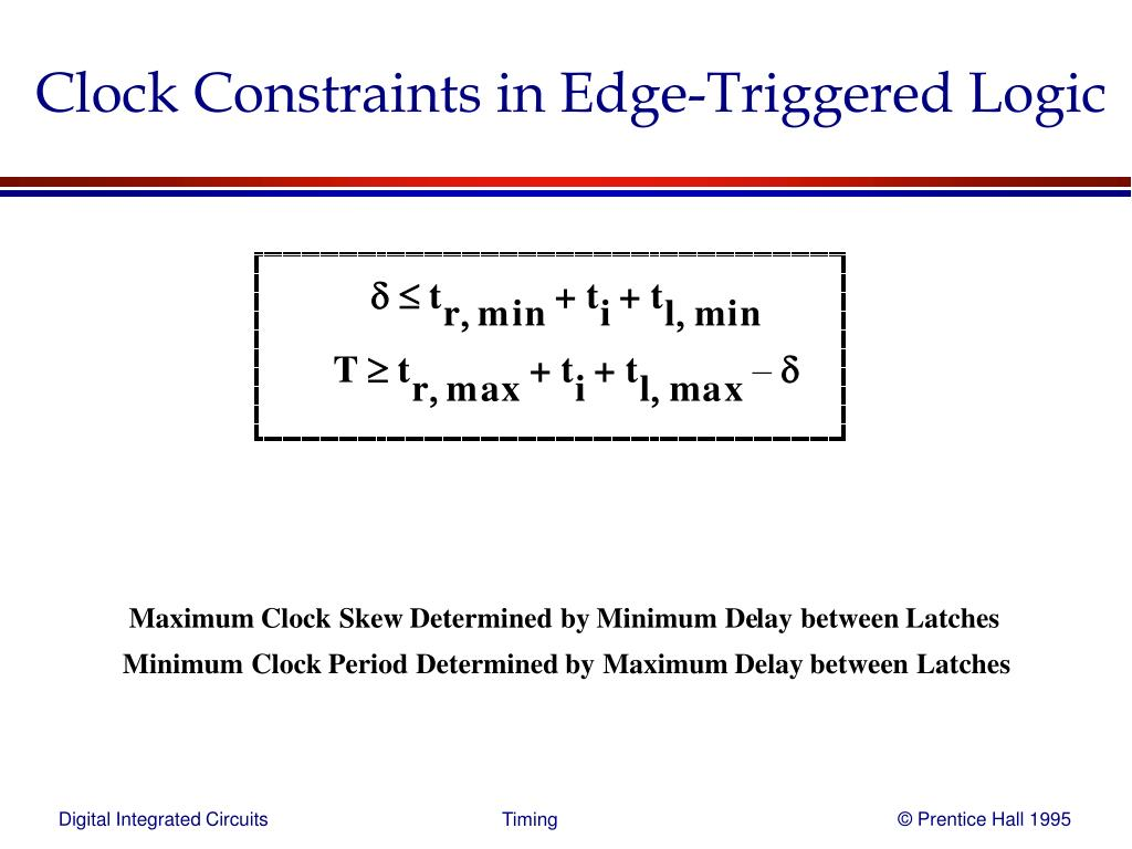 Clock Constraints in Edge-Triggered Logic