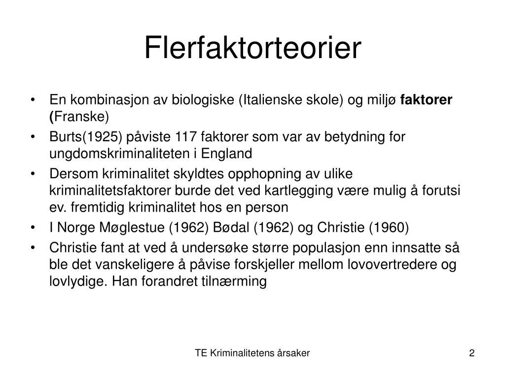 Flerfaktorteorier