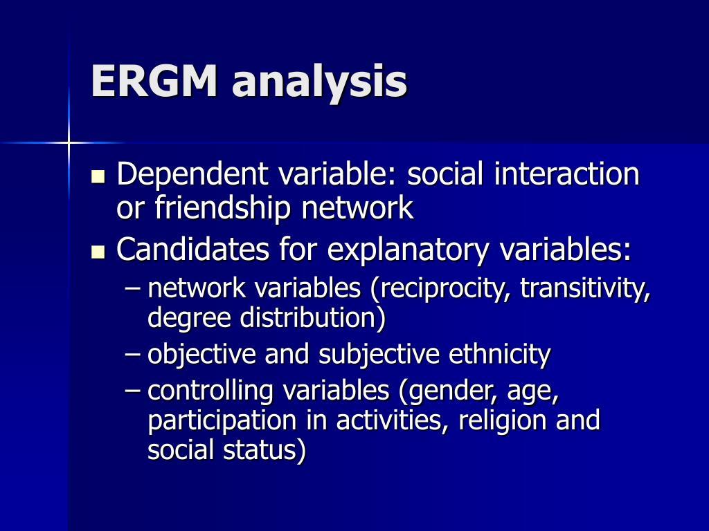 ERGM analysis