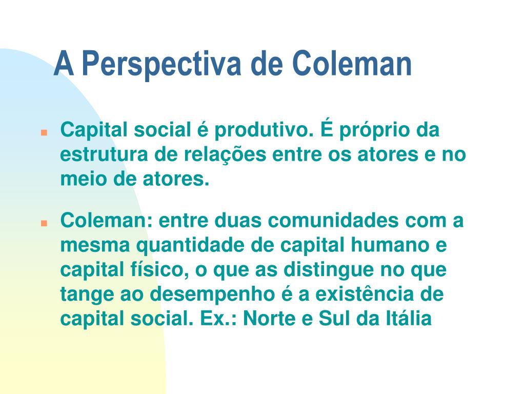 A Perspectiva de Coleman