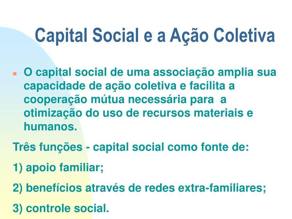 Capital Social e a Ação Coletiva