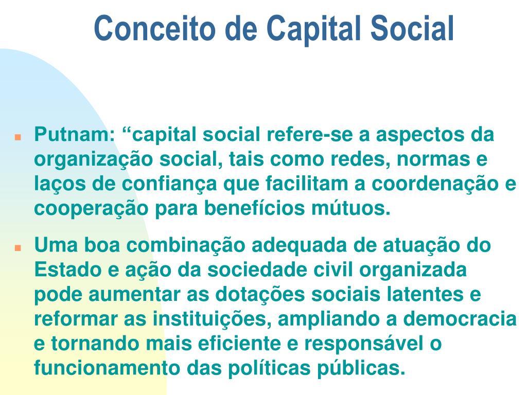 Conceito de Capital Social