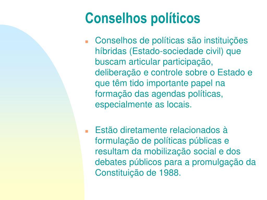 Conselhos políticos