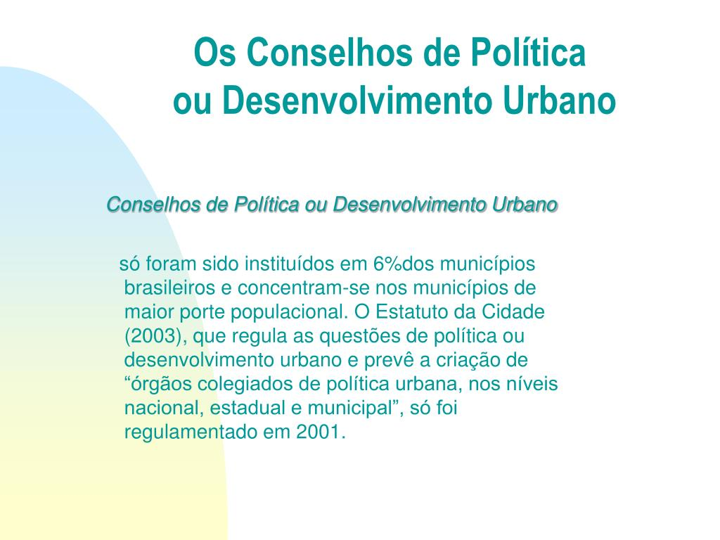 Os Conselhos de Política