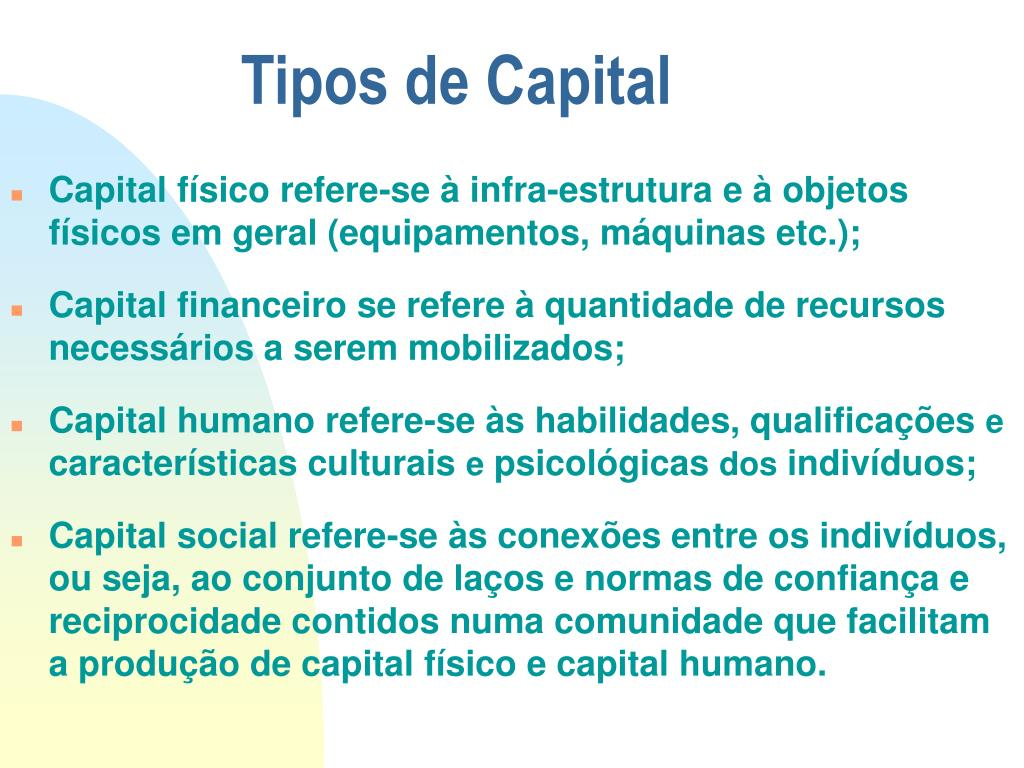 Tipos de Capital