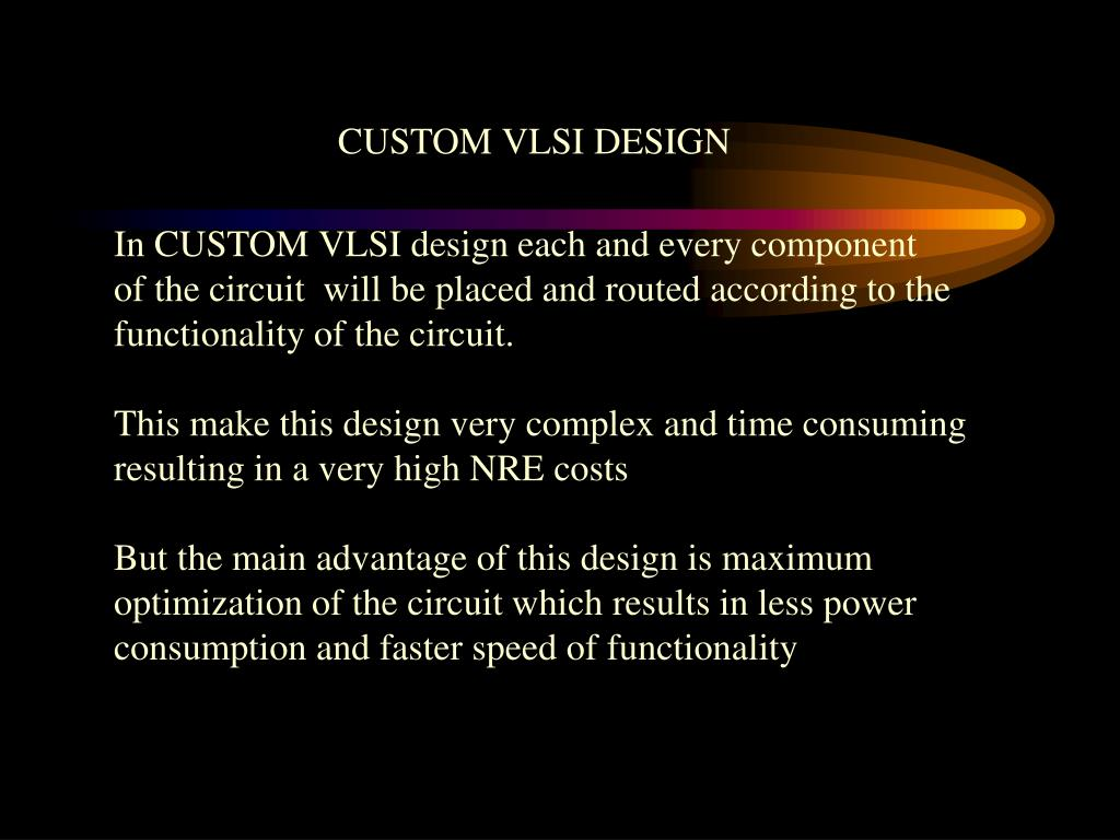 CUSTOM VLSI DESIGN