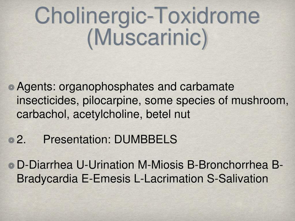 Cholinergic-Toxidrome (Muscarinic)