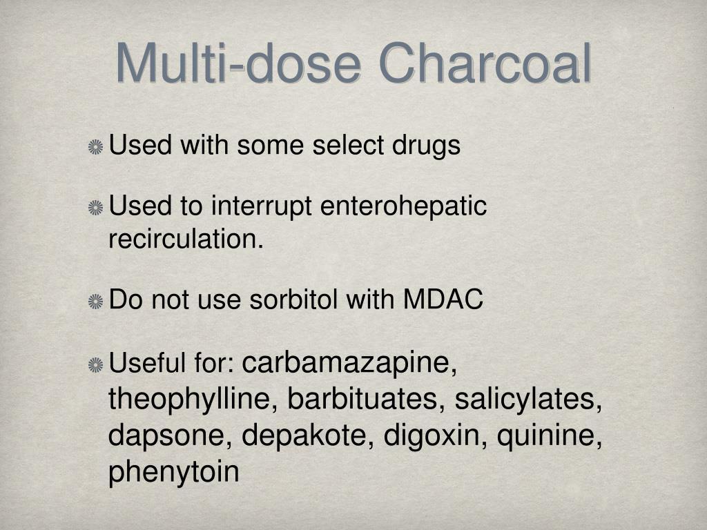 Multi-dose Charcoal