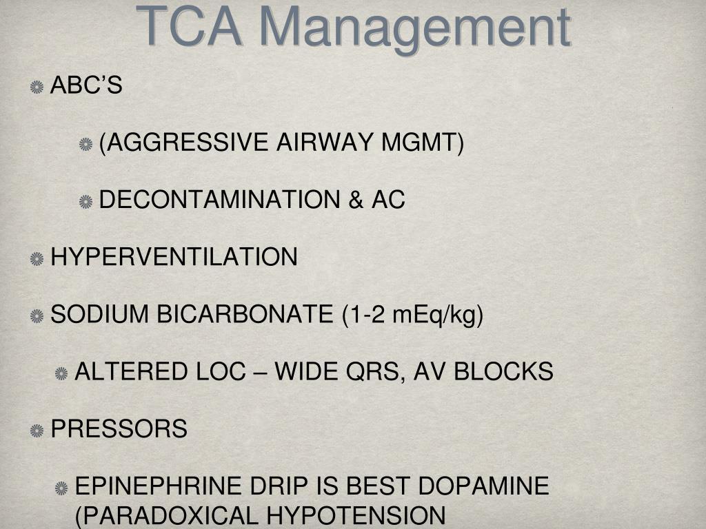 TCA Management