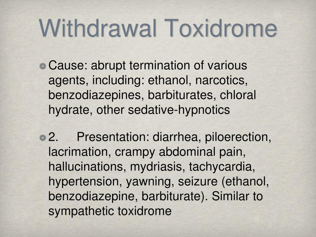 Withdrawal Toxidrome