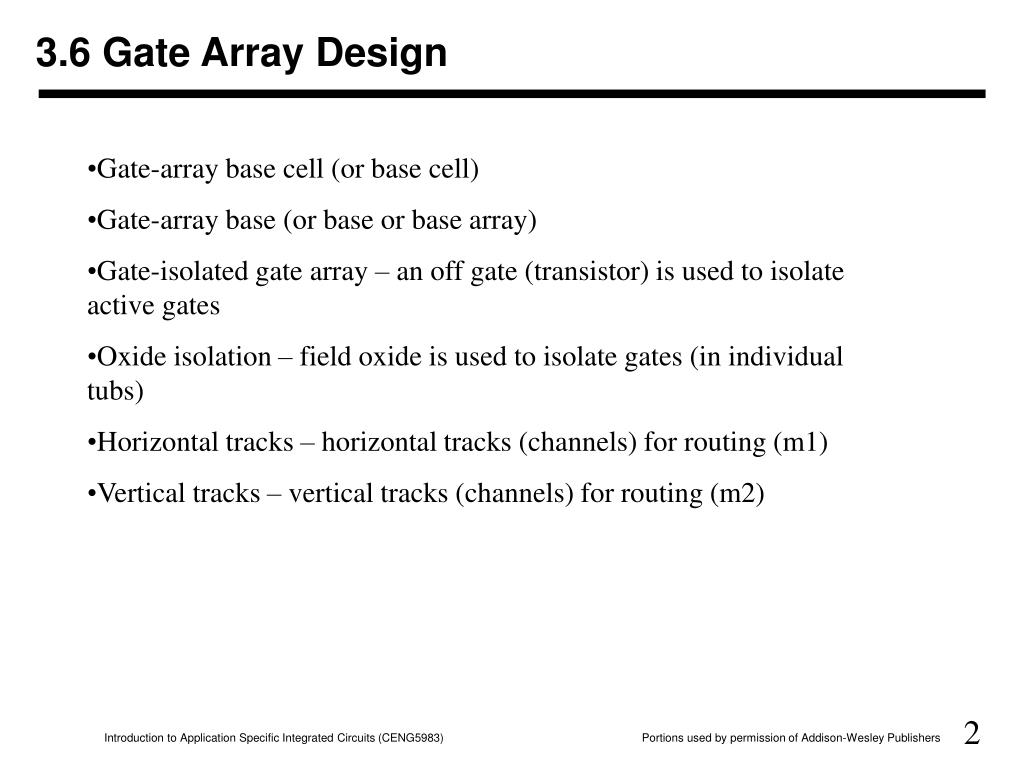 3.6 Gate Array Design