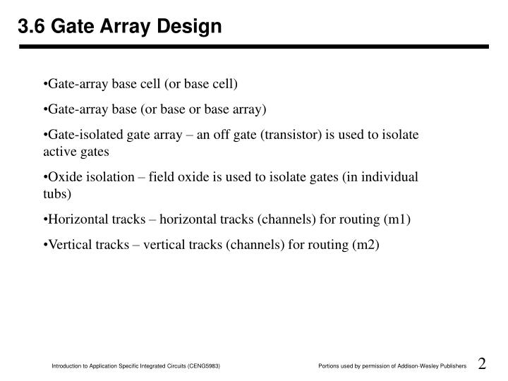 3 6 gate array design