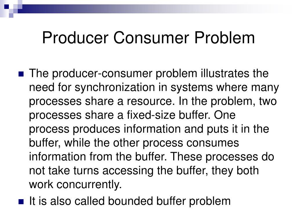 Producer Consumer Problem