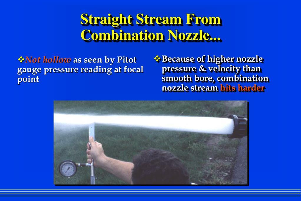 Ppt smooth bore nozzles vs combination