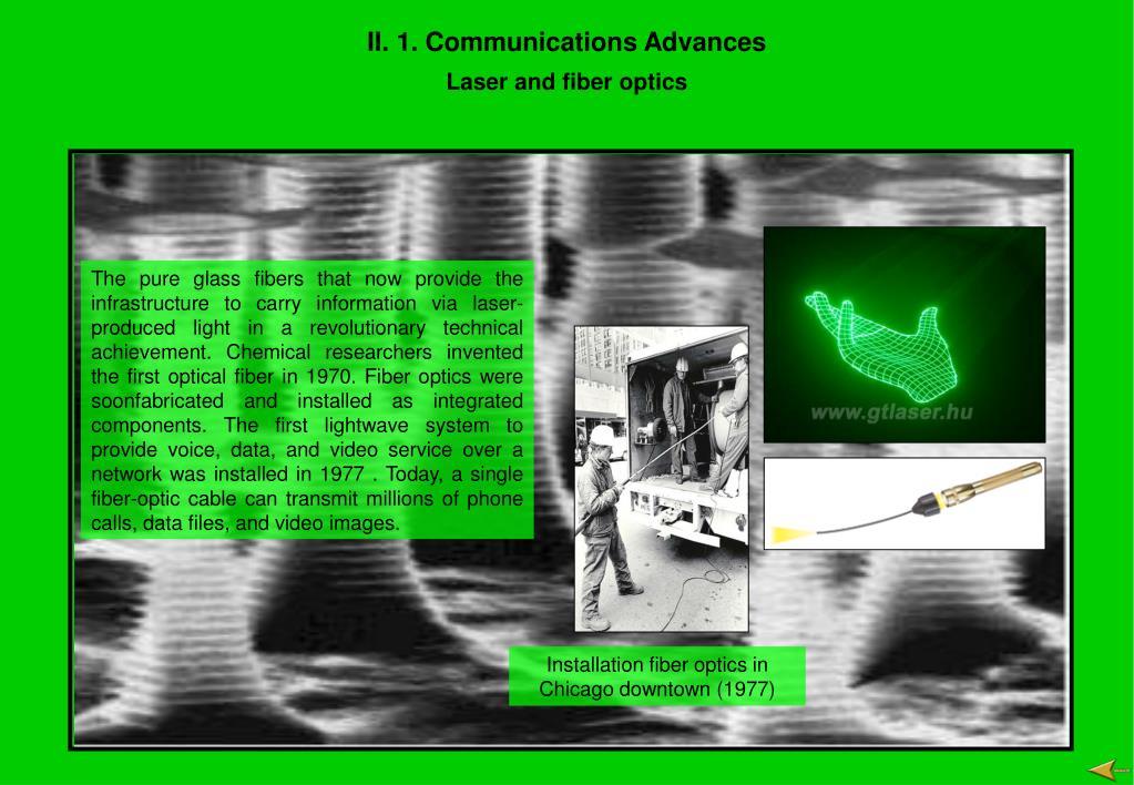II. 1. Communications Advances