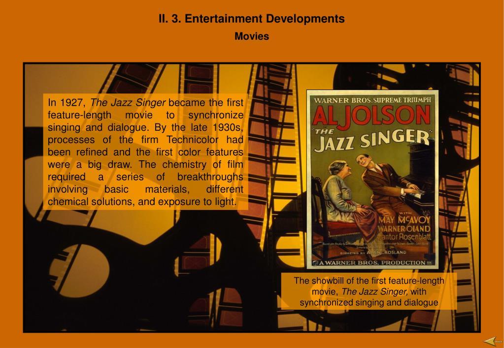 II. 3. Entertainment Developments
