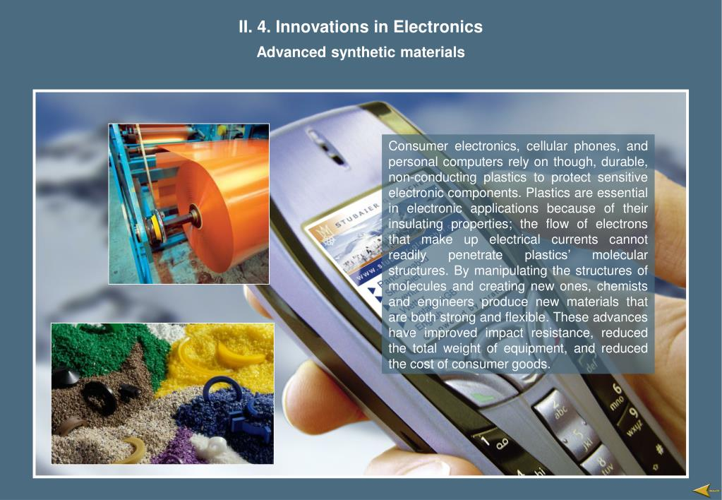 II. 4. Innovations in Electronics