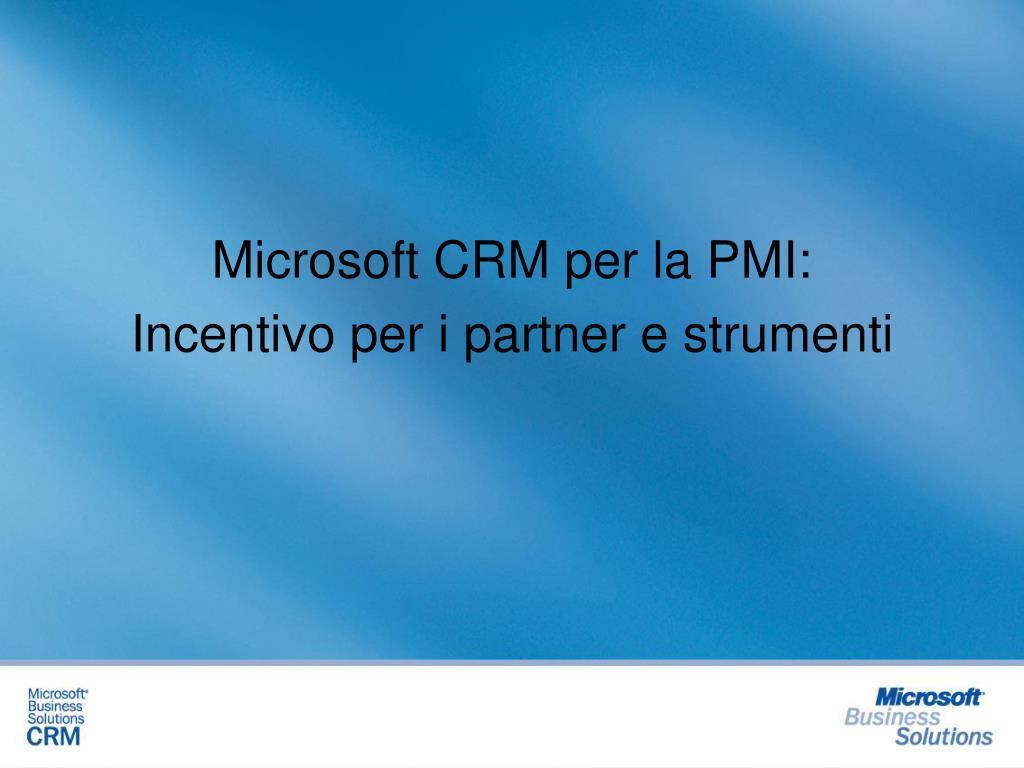 Microsoft CRM per la PMI: