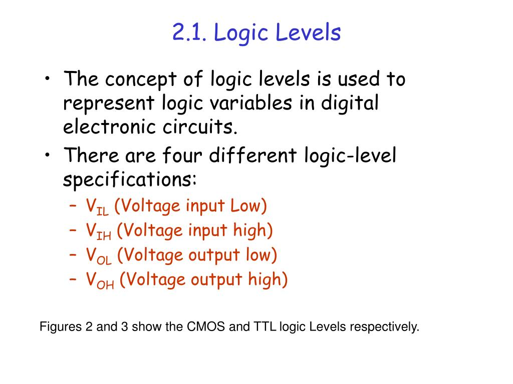 2.1. Logic Levels