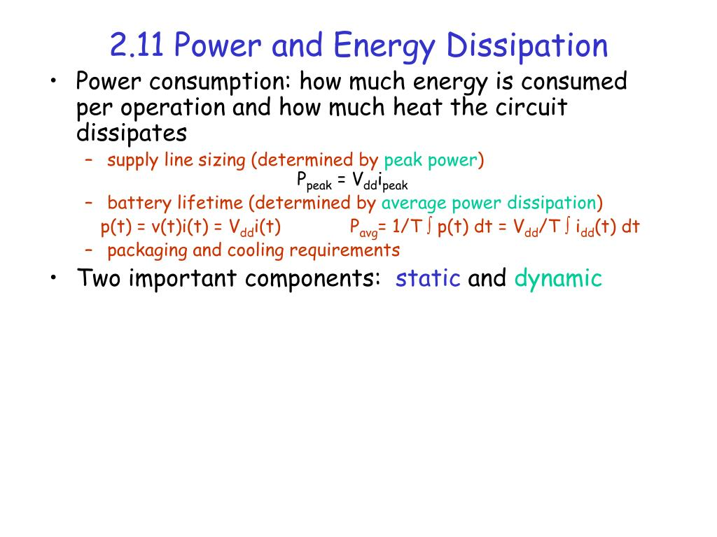 2.11 Power and Energy Dissipation