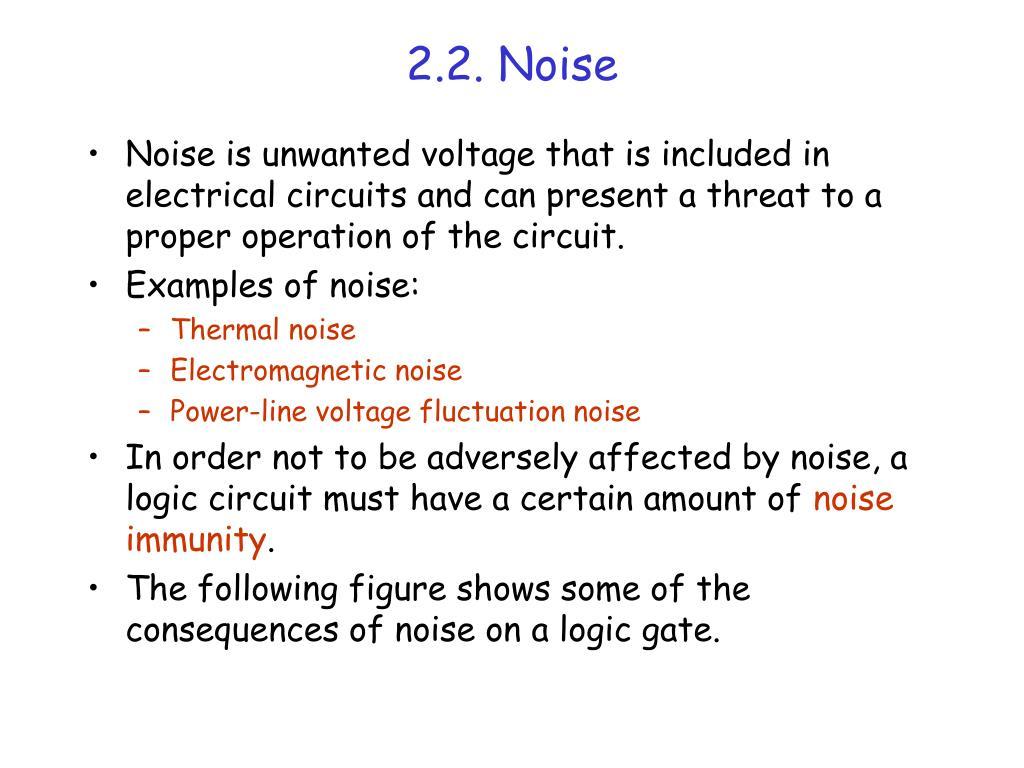 2.2. Noise