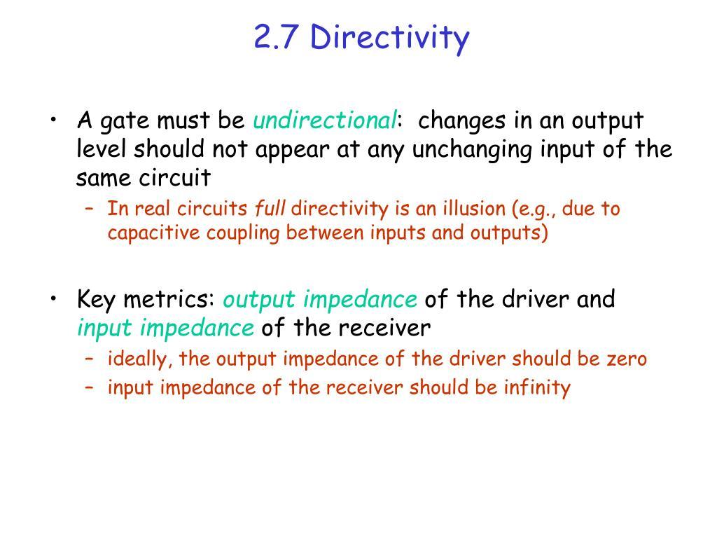 2.7 Directivity