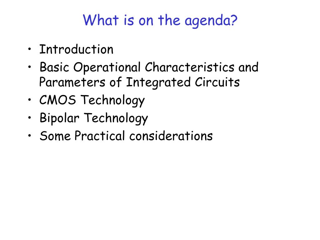 What is on the agenda?