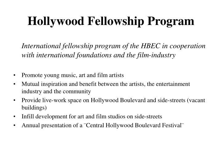 Hollywood Fellowship Program