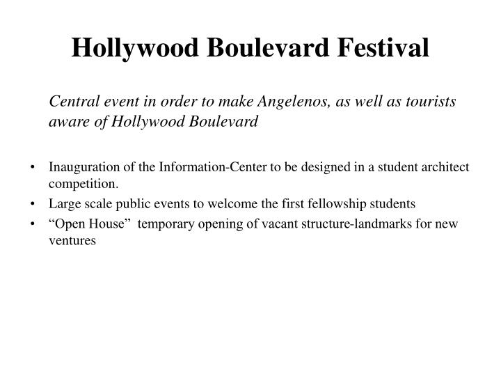 Hollywood Boulevard Festival
