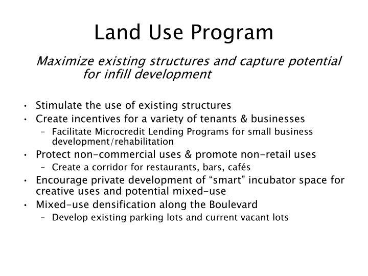 Land Use Program