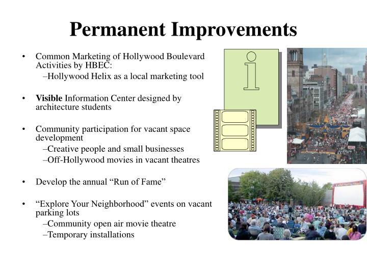 Permanent Improvements